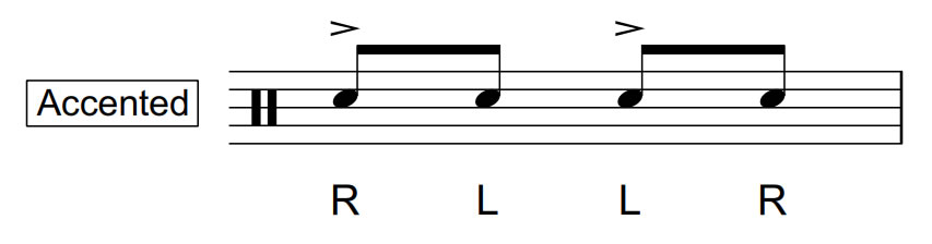 Inverted Flam Tap | Accented | 70 BPM
