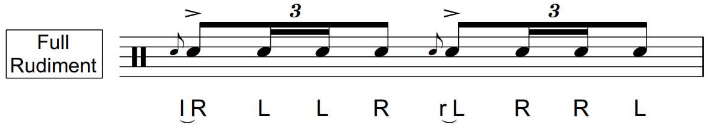 Flam Drag | Full Rudiment | 40 BPM