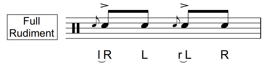 Inverted Flam Tap | Full Rudiment | 70 BPM