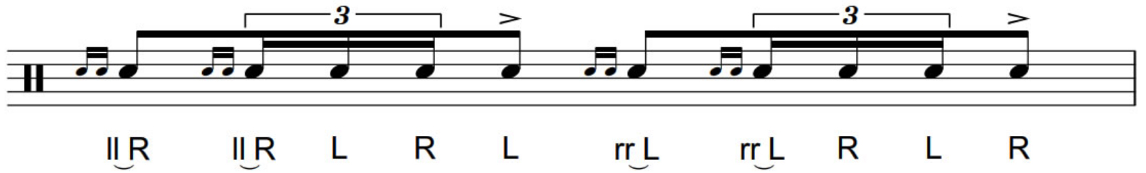 How to play the double ratamacue rudiment